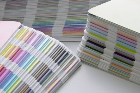 Pantone sample colors catalogues  Stock Photo - 8491802