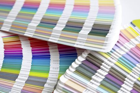 Pantone sample colors catalogues Stock Photo - 8491803