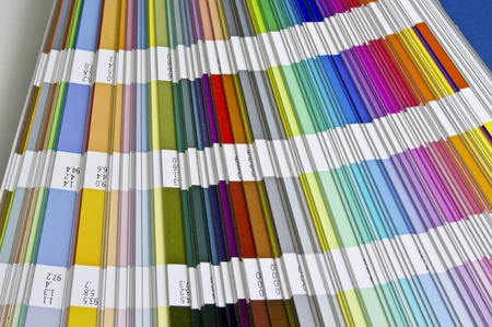 Pantone sample colors catalogue Stock Photo - 8491878