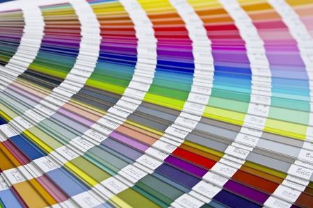 Pantone sample colors catalogue  Stock Photo - 8491804