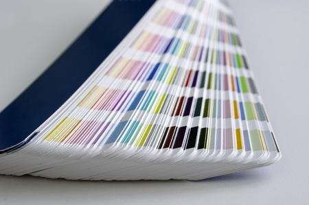 Pantone sample colors catalogue Stock Photo - 8491801
