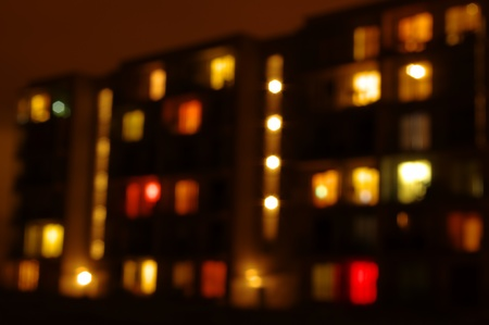 hause: out of focus night home lights