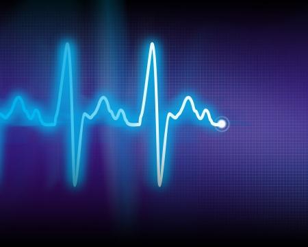 puls: cardiogram Zdjęcie Seryjne