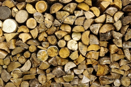 Stack of firewood  photo
