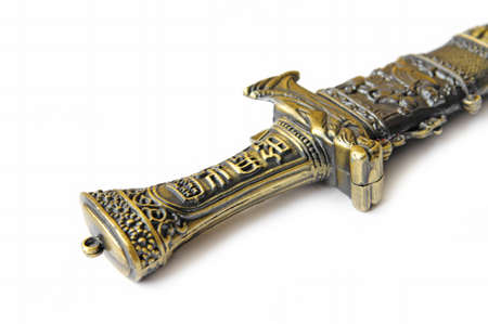 Decorative knife handle Banco de Imagens