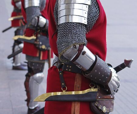 knightly: Ancient knights standing