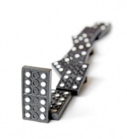 line of dominos Stock Photo - 9736590