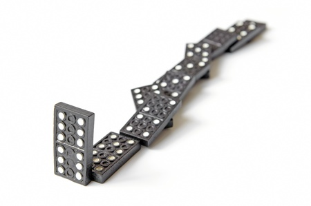 line of dominos Stock Photo - 9736589