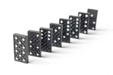 line of dominos Stock Photo - 9736588