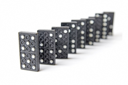 line of dominos Stock Photo - 9736595
