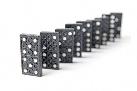 line of dominos Stock Photo - 9736595