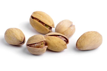 pistachios stack isolated on a white background  photo