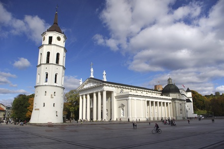 sainthood: Cathedral Square in Vilnius