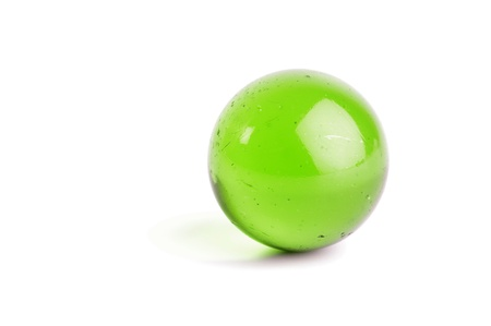Green glass ball Stock Photo