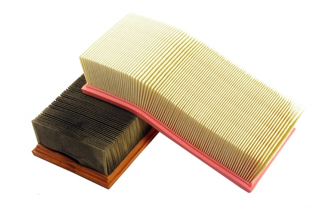 Air filters. Used and new Stock Photo - 11239855