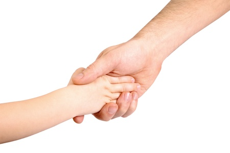 Father and child hands Stock Photo - 11410851