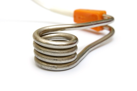 immersion: Immersion heater under the white background  Stock Photo