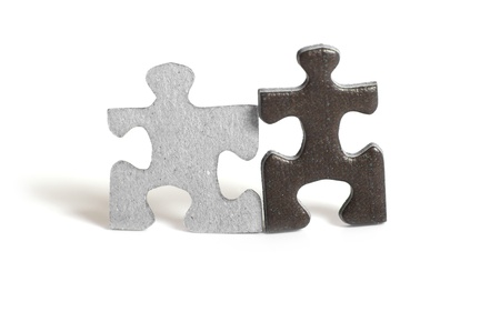 Two puzzle figures  Stock Photo - 11983957