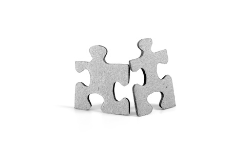 Two puzzle figures  Stock Photo - 11983951