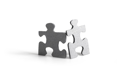Two puzzle figures  Stock Photo - 11983949