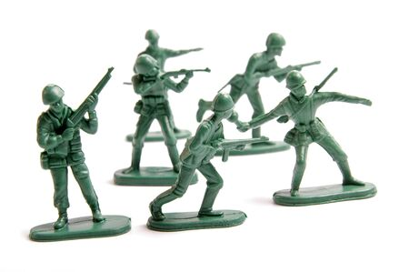 army man: Green toy army engaged in battle