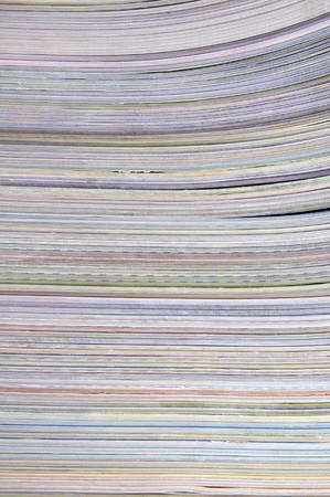 Paper textures. stack of magazines  photo