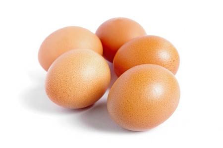 eggs on a white background  Stock Photo - 13548174