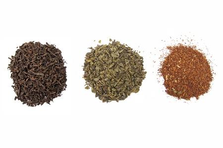 Assortment of dried tea  photo