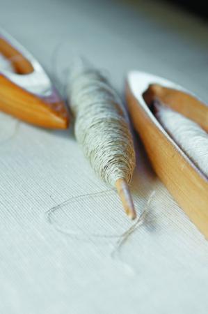 Part of loom homemade Stock Photo - 14410050