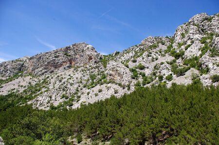 paklenica: Mountain landscape. Paklenica National Park in Croatia