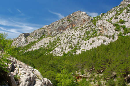 paklenica: Mountain landscape. Paklenica National Park in Croatia