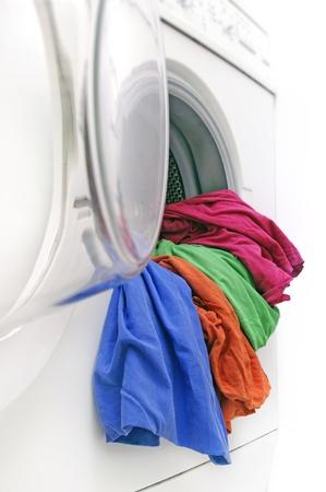 Washing machine on white