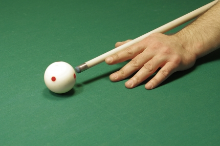 The start of the game of pool  billiard  photo