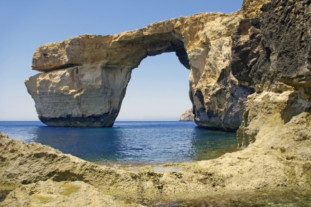 Malta.Gozo. Azure window.  photo