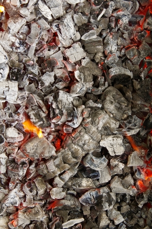 leavings: Ash from fire  Stock Photo