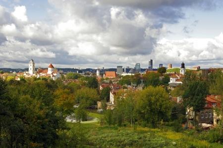 bird s eye view: Bird s eye view of Vilnius, Lithuania