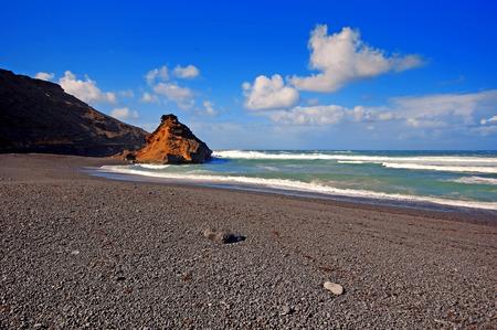 golfo: El Golfo bay, Western Lanzarote, Canary islands, Spain  Stock Photo