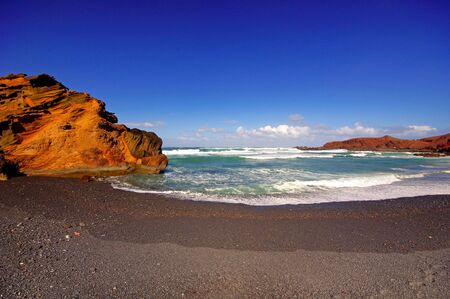 El Golfo bay, Western Lanzarote, Canary islands, Spain  Stock Photo - 26575757