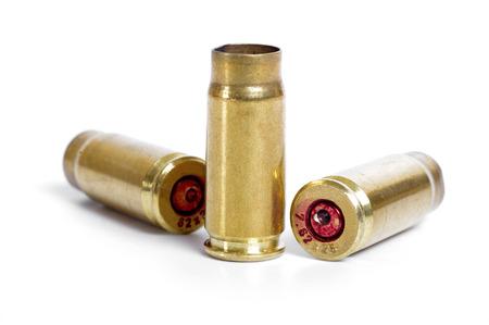 Shotgun cartridges isolated on white photo