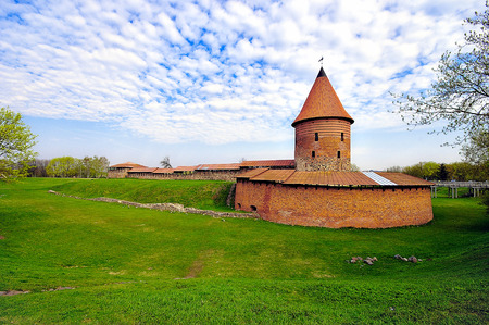 kaunas: Old castle in Kaunas, Lithuania. 14th century Editorial