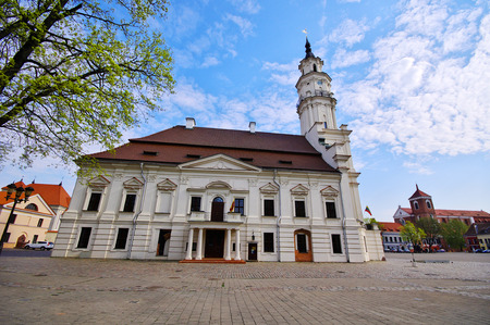 kaunas: Town Hall of Kaunas in Town Hall Square at the heart of the Old Town, Kaunas, Lithuania.