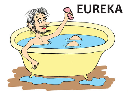 parody: Archimedes cartoon