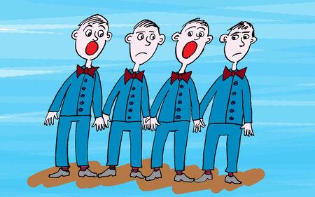 opera: Opera Singers cartoon Stock Photo