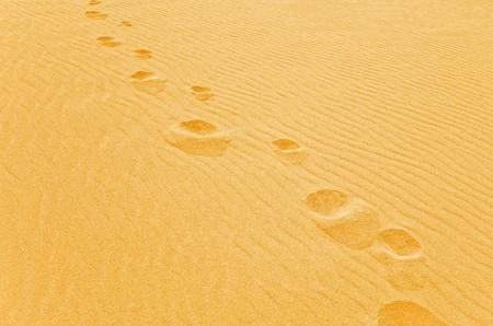 foot step: Passo piede sulla sabbia