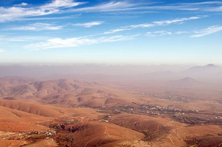 guise: Central Fuerteventura, Canary Islands, view north from Mirador de Guise y Ayose