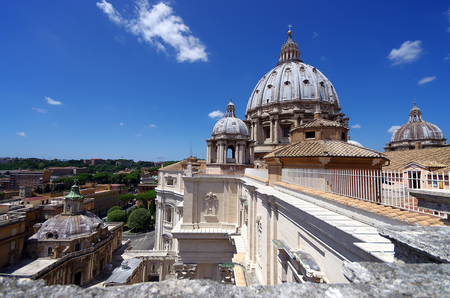 The Vatican Museum in Rome, view from roof, Italy Editorial