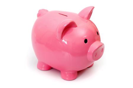 cuenta bancaria: Banco de cerdo, aislado en blanco un fondo.