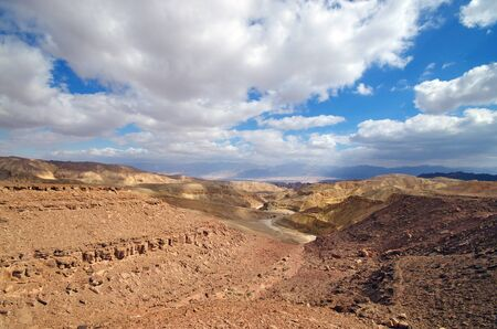 canyon negev: Israeli landscape near Eilat in the day