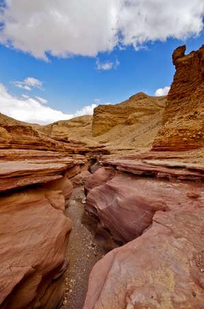 arava: Red canyon Eilat. Middle East. Israel. Arava desert.