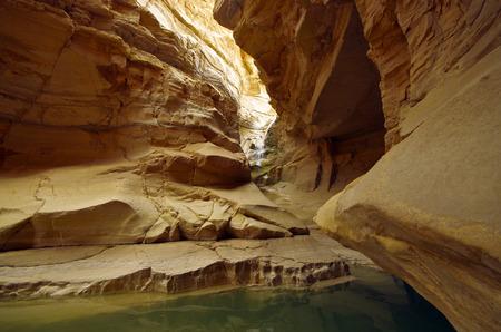 judea: The end of wadi Zeelim in Judea desert, Israel.